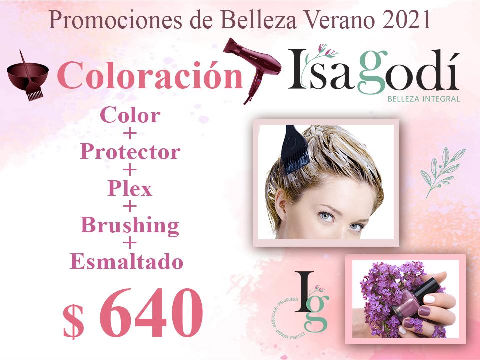 Oferta Verano 2021 en Coloración