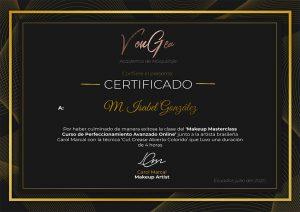 Certificado Carol Marcal