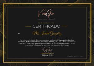 Certificado Geanella Gómez