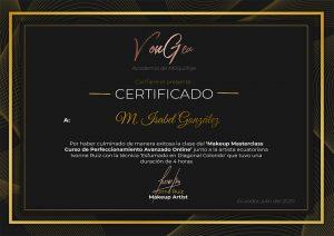 Certificado Ivonne Ruiz