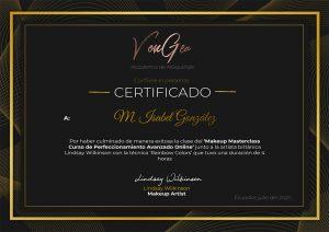 Certificado Lindsay Wilkinson