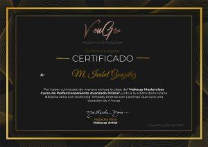 Certificado Natacha Nina