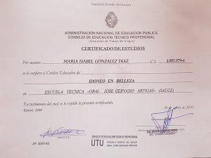 Certificado Idoneo en Belleza