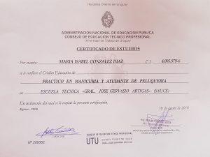 Certificado -UTU