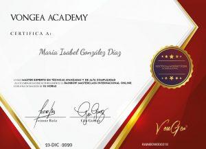 Certificado Vongea Academy