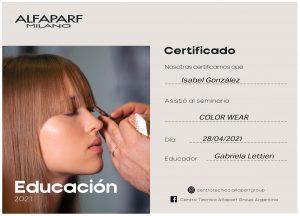 Alfaparf Milano Certificado- Color Wear